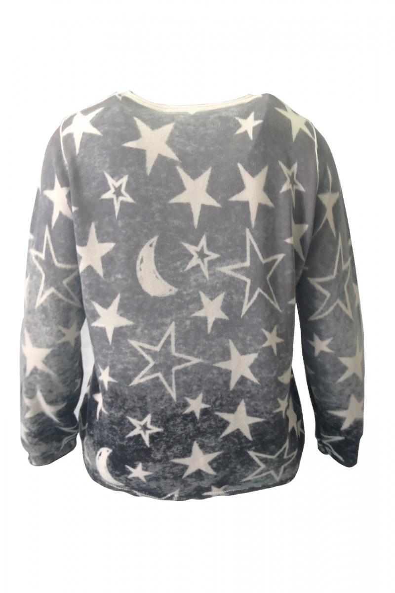 Пуловер вязанный трикотаж
