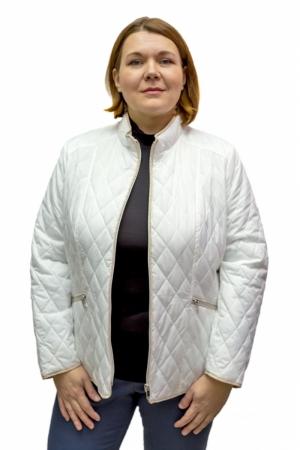 Куртка белая с беж.отделкой