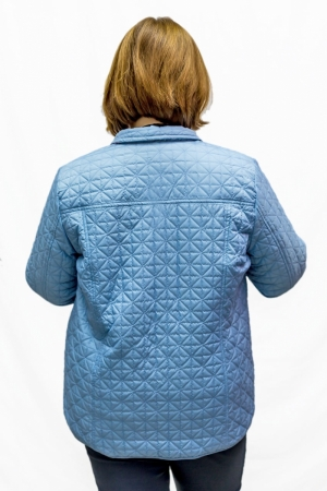 Куртка  двухсторонняя,  голубая/рисунок