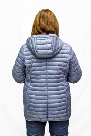 Куртка длин. с капюшоном (т.синяя)