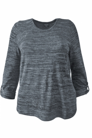 Пуловер трикотаж синий