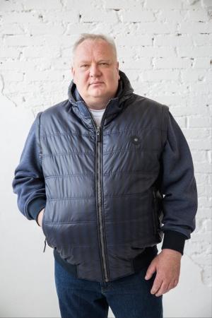 Куртка-жилет с капюшоном и отстегив. рукавами 25146/1