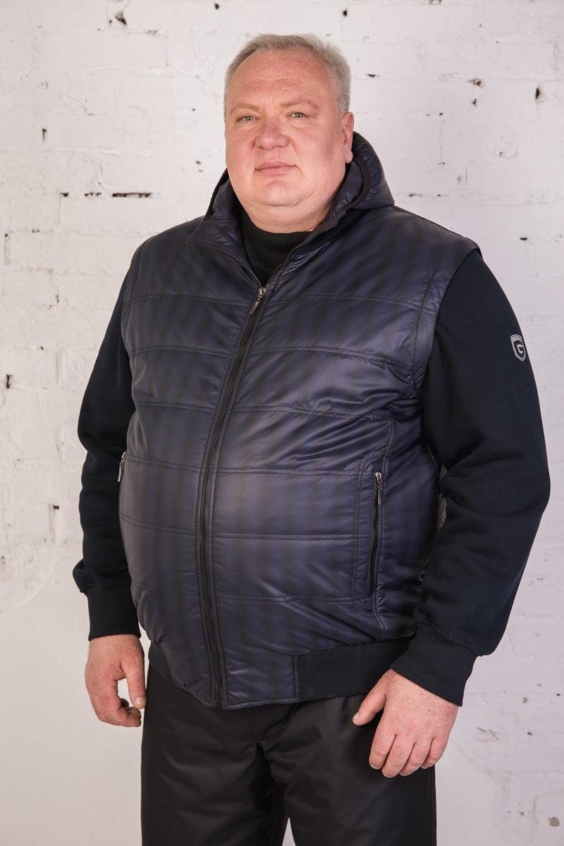 Куртка-жилет с капюшоном и отстегивающимися рукавами, арт. 25146