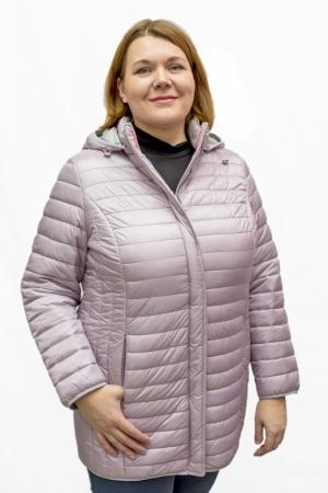 Куртка длин. с капюшоном (розовая)