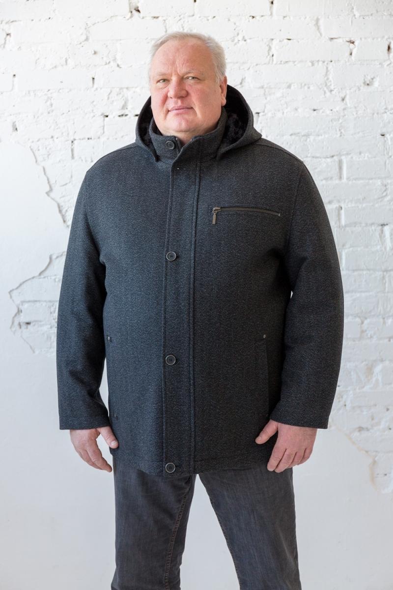 Пальто, арт 2329, серого цвета
