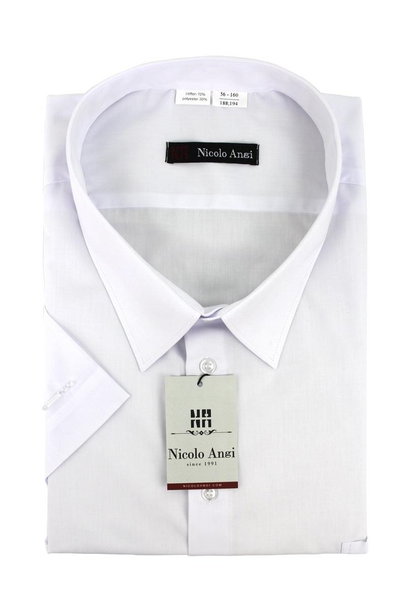 Сорочка мужская с короткими рукавами, арт. 61Б-01 цвет:белый