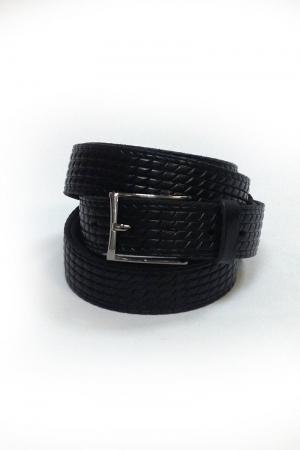 Ремень м черный ромбы  682  (170-180см)