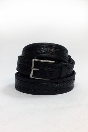 Ремень м черный коса 684  (170-180см)