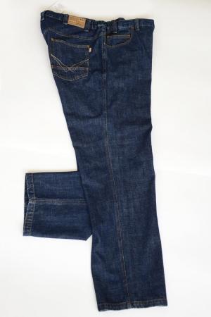 Джинсы боковая резинка, т.синего цвета, арт 9112