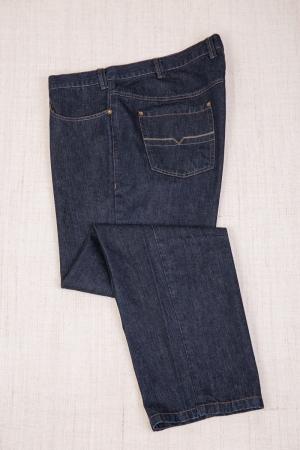 Джинсы 5-ти карманка, темно-синего цвета, арт.9119
