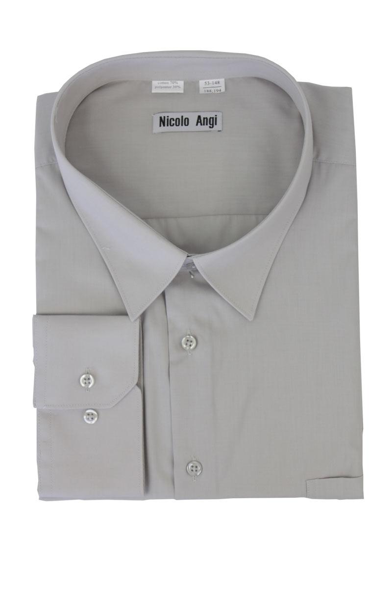 Сорочка мужская с длинными рукавами, арт.21Б-05 светло-серый