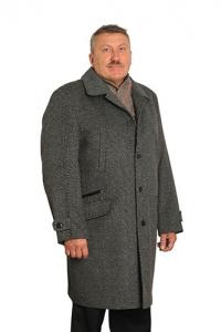 Пальто классическое, серое, арт 2317