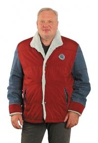 Куртка джинсовая комбинированная с мехом
