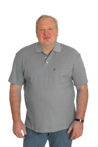 Поло с короткими рукавами, арт.50130/3 светло серого цвета
