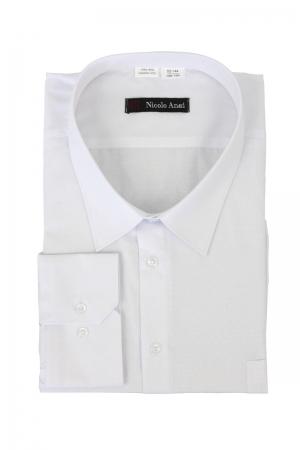 Сорочка мужская с длинными рукавами, арт.03Б-38  белая выработка