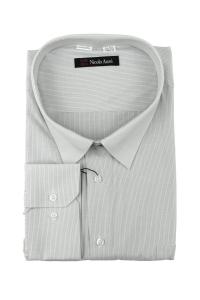 Сорочка мужская дл рукав 03Б-24-250711  полоса серая