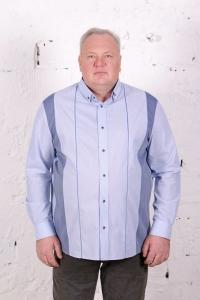 Рубашка голубого цвета, с длинными рукавами, арт 20114