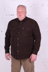 Рубашка вельветовая, коричневая, с длинными рукавами, арт. 20119/1