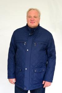 Куртка на тонком синтепоне, длинная, т.синего цвета, арт 25116