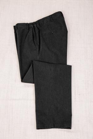 Слаксы боковая резинка, арт.26123/2 темно-серые