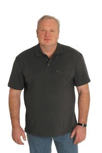 Поло с короткими рукавами, темно-серого цвета, арт 50130/1