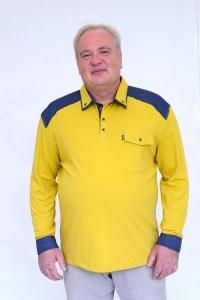 Поло комбинированное с джинсой, арт 50147/1