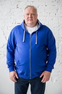 Толстовка с капюшоном синего цвета, арт 60163/1