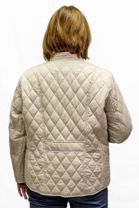 Куртка бежевая с бел.отделкой