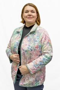 Куртка  двухсторонняя, « мята/ рисунок»