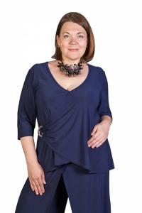 Блуза темно-синяя