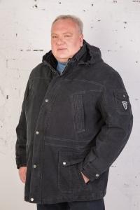 Куртка 25117  черный х/б