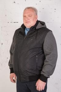 Куртка-жилет с отстегивающимися рукавами и капюшоном, арт. 25147