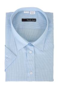 Сорочка мужская с коротким  рукавом 59Б-5902  полоса бирюза