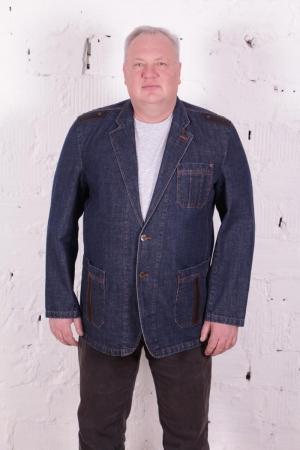 Пиджак  джинсовый 2175 синий