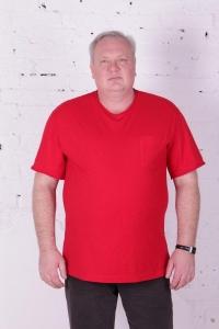 Футболка арт.4084/15 открытые швы, цвет: красный