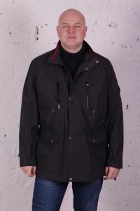 Куртка ветровка черного цвета, арт 25133