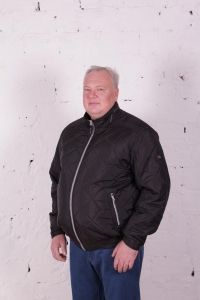 Куртка стежка короткая, черного цвета, арт 25137/1