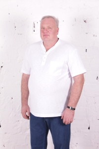 Поло с короткими рукавами, белого цвета, арт 50163/14